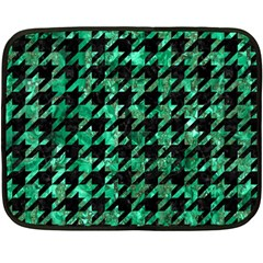 Houndstooth1 Black Marble & Green Marble Double Sided Fleece Blanket (mini)