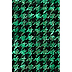 Houndstooth1 Black Marble & Green Marble 5 5  X 8 5  Notebook