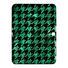 Houndstooth1 Black Marble & Green Marble Samsung Galaxy Tab 4 (10 1 ) Hardshell Case
