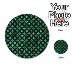 Circles3 Black Marble & Green Marble (r) Multi Purpose Cards (round)