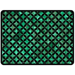 Circles3 Black Marble & Green Marble (r) Double Sided Fleece Blanket (large)