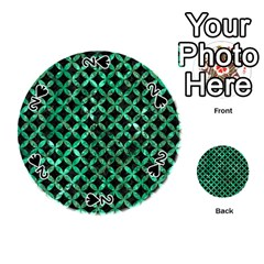 Circles3 Black Marble & Green Marble Playing Cards 54 (round)