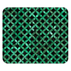 Circles3 Black Marble & Green Marble Double Sided Flano Blanket (small)