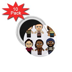 The Walking Dead   Main Characters Chibi   Amc Walking Dead   Manga Dead 1 75  Magnets (10 Pack)