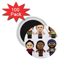 The Walking Dead   Main Characters Chibi   Amc Walking Dead   Manga Dead 1 75  Magnets (100 Pack)