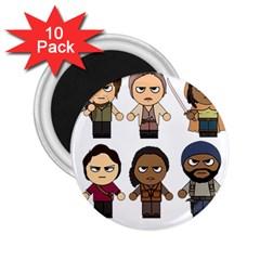 The Walking Dead   Main Characters Chibi   Amc Walking Dead   Manga Dead 2 25  Magnets (10 Pack)