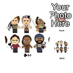 The Walking Dead   Main Characters Chibi   Amc Walking Dead   Manga Dead Playing Cards 54 (round)