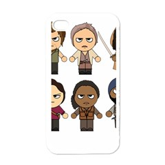 The Walking Dead   Main Characters Chibi   Amc Walking Dead   Manga Dead Apple Iphone 4 Case (white)