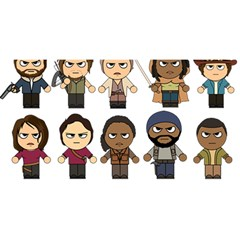 The Walking Dead   Main Characters Chibi   Amc Walking Dead   Manga Dead You Are Invited 3d Greeting Card (8x4)