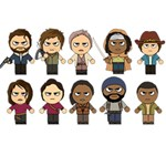The Walking Dead   Main Characters Chibi   Amc Walking Dead   Manga Dead WORK HARD 3D Greeting Card (7x5)  Front