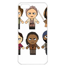The Walking Dead   Main Characters Chibi   Amc Walking Dead   Manga Dead Apple Iphone 5 Seamless Case (white)
