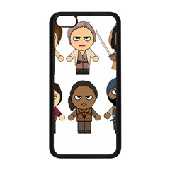 The Walking Dead   Main Characters Chibi   Amc Walking Dead   Manga Dead Apple Iphone 5c Seamless Case (black)