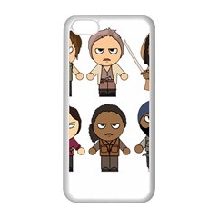 The Walking Dead   Main Characters Chibi   Amc Walking Dead   Manga Dead Apple iPhone 5C Seamless Case (White)