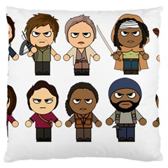 The Walking Dead   Main Characters Chibi   Amc Walking Dead   Manga Dead Standard Flano Cushion Case (one Side)