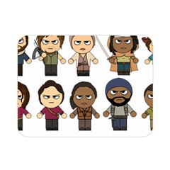 The Walking Dead   Main Characters Chibi   Amc Walking Dead   Manga Dead Double Sided Flano Blanket (mini)