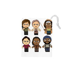 The Walking Dead   Main Characters Chibi   Amc Walking Dead   Manga Dead Drawstring Pouches (XS)