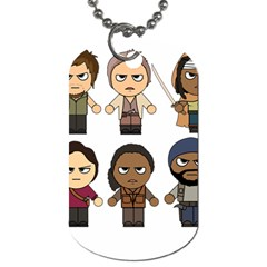 The Walking Dead   Main Characters Chibi   Amc Walking Dead   Manga Dead Dog Tag (two Sides)