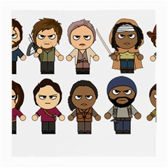 The Walking Dead   Main Characters Chibi   Amc Walking Dead   Manga Dead Medium Glasses Cloth