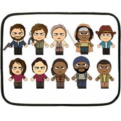 The Walking Dead   Main Characters Chibi   Amc Walking Dead   Manga Dead Fleece Blanket (mini)