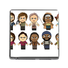 The Walking Dead   Main Characters Chibi   Amc Walking Dead   Manga Dead Memory Card Reader (square)