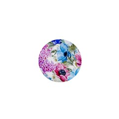 Watercolor Spring Flowers 1  Mini Buttons