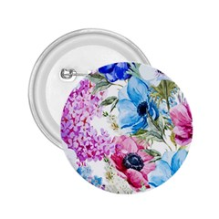 Watercolor Spring Flowers 2 25  Buttons