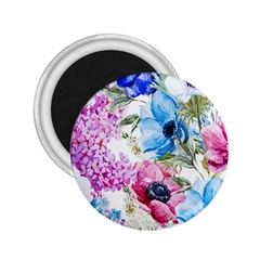 Watercolor Spring Flowers 2 25  Magnets