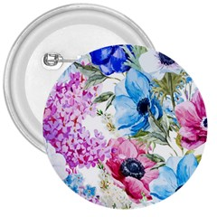 Watercolor Spring Flowers 3  Buttons