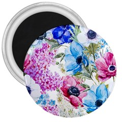 Watercolor Spring Flowers 3  Magnets