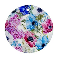 Watercolor spring flowers Ornament (Round)