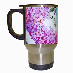 Watercolor Spring Flowers Travel Mugs (white)