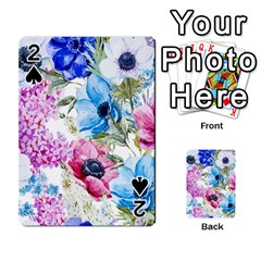 Watercolor Spring Flowers Playing Cards 54 Designs