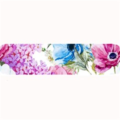 Watercolor spring flowers Large Bar Mats