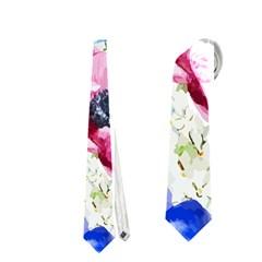 Watercolor Spring Flowers Neckties (one Side)