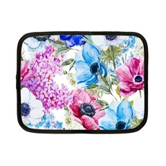 Watercolor Spring Flowers Netbook Case (small)