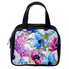 Watercolor Spring Flowers Classic Handbags (one Side)