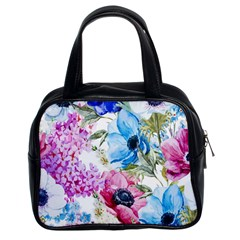 Watercolor Spring Flowers Classic Handbags (2 Sides)