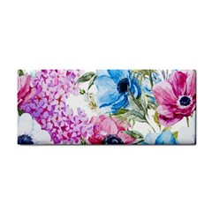 Watercolor Spring Flowers Hand Towel