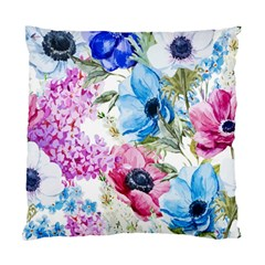 Watercolor Spring Flowers Standard Cushion Case (two Sides)