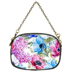 Watercolor Spring Flowers Chain Purses (two Sides)