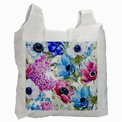 Watercolor Spring Flowers Recycle Bag (two Side)