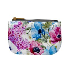 Watercolor spring flowers Mini Coin Purses