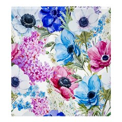 Watercolor Spring Flowers Shower Curtain 66  X 72  (large)