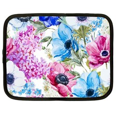 Watercolor Spring Flowers Netbook Case (xl)