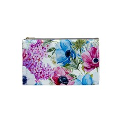 Watercolor Spring Flowers Cosmetic Bag (small)