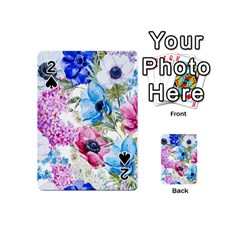 Watercolor spring flowers Playing Cards 54 (Mini)
