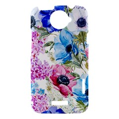 Watercolor spring flowers HTC One X Hardshell Case