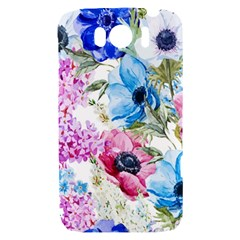 Watercolor spring flowers HTC Sensation XL Hardshell Case