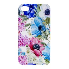 Watercolor spring flowers Apple iPhone 4/4S Premium Hardshell Case