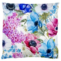 Watercolor spring flowers Large Cushion Case (One Side)
